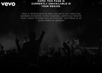本家【VEVO】のウェブサイトを見る方法